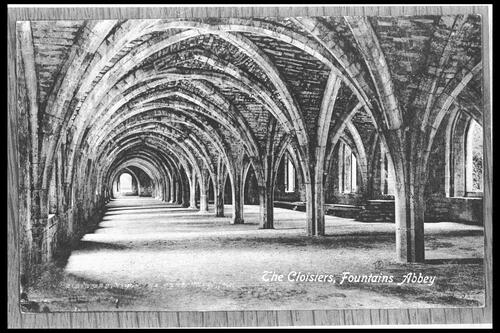 The Cloisters, Fountains Abbey.