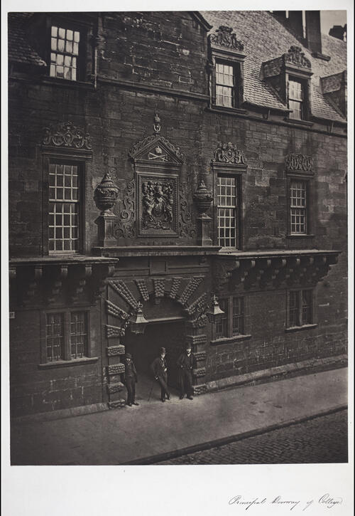 Prinipal doorway of College, [University of Glasgow] Glasgow.