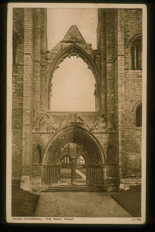 Elgin Cathedral, West Front.