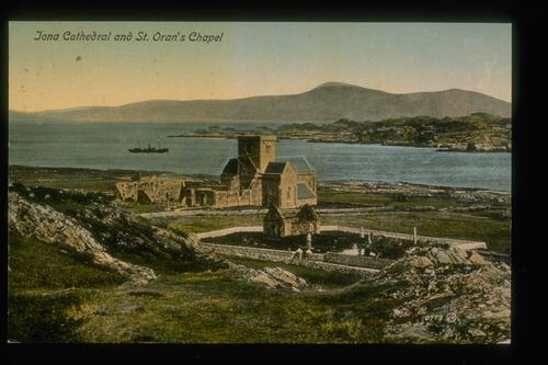 Iona Cathedral and St Oran's Chapel.