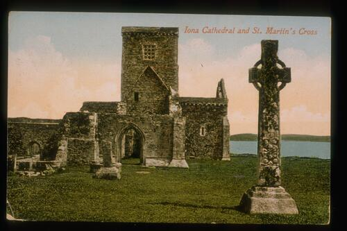Iona Cathedral and Cross.