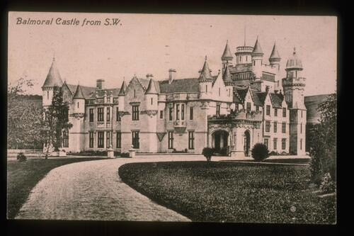 Balmoral Castle from S.W.