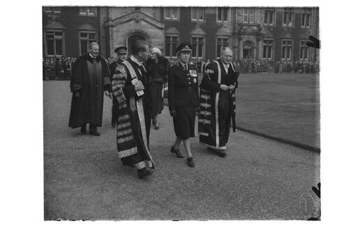 The Princess Royal visiting St Andrews for Graduation Ceremony when she received a LLD.