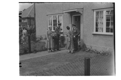 The Queen visits an officers house/quarters, RAF Leuchars.