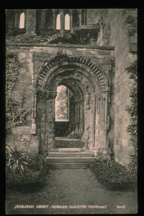 Jedburgh Abbey, Norman Doorway.