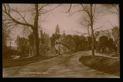 Ruthin Castle and Lodge.