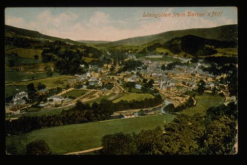 Llangollen from Barber's Hill.
