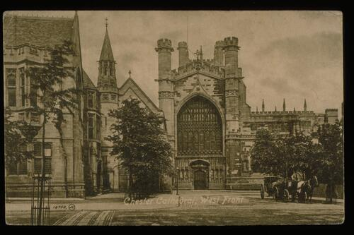 Chester Cathedral, West Front.