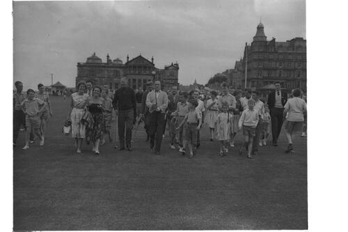 Bob Hope on the Old Course.