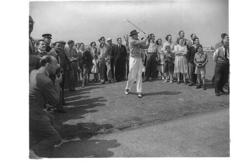 Danny Kaye at St Andrews.