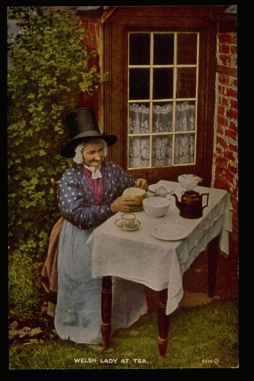 Welsh Lady at tea.