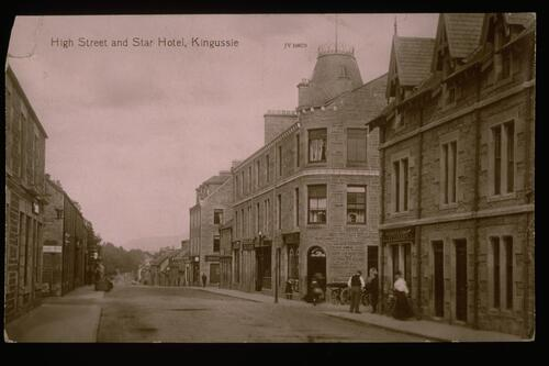High Street & Hotel, Kingussie.