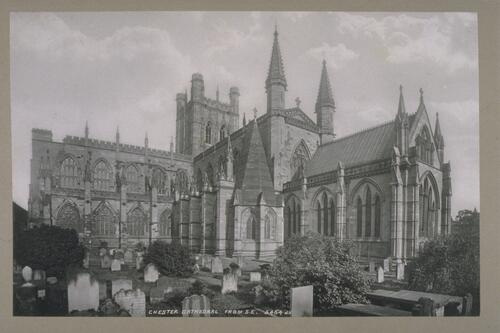 Chester Cathedral from S E.