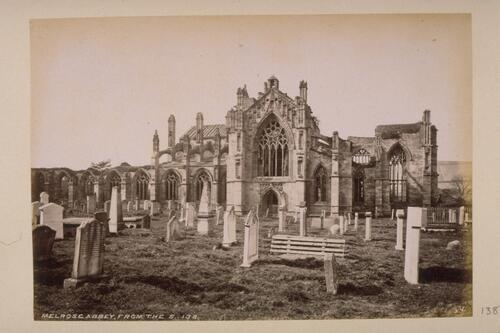 Melrose Abbey from the S.
