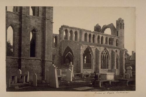 Ruins of Elgin Cathedral.