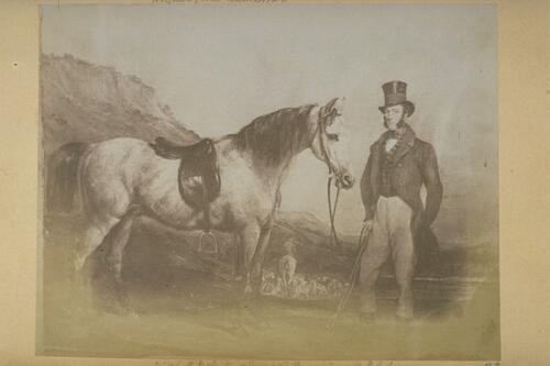 Mr Whyte Melville and pony after Francis Grant P.R.A.