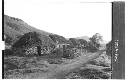 Thatched houses near Dornie.