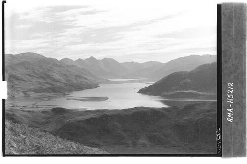 Loch Duich with mountains.