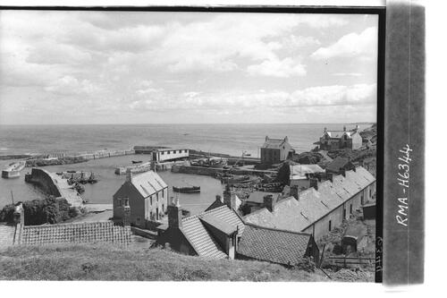 St Abbs harbour and village.