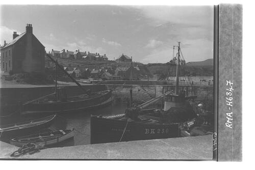St Abbs harbour from east.