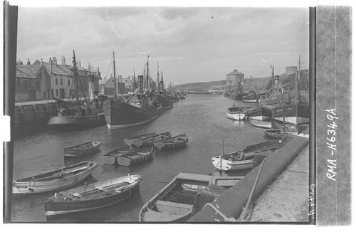 Eyemouth harbour and boats.