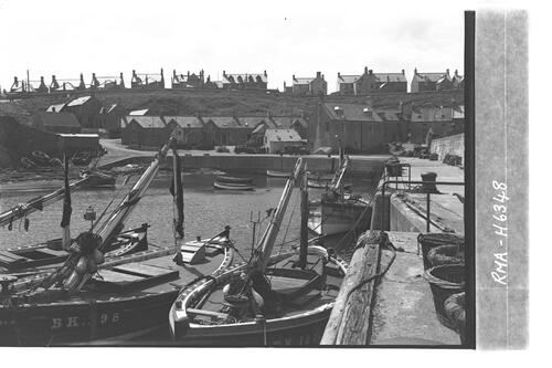 St Abbs harbour & fishing boats.