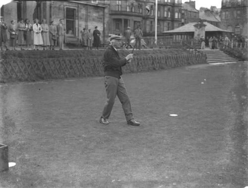 ?R&A captain playing in.