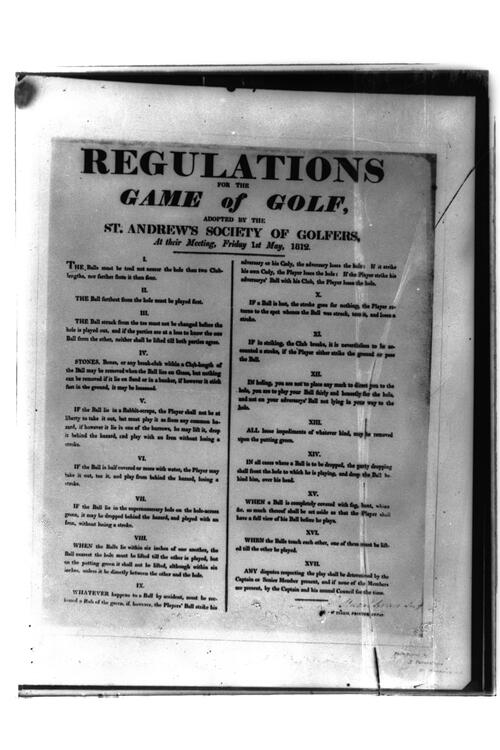 Regulations of Game of Golf.