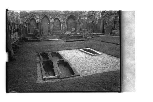 Stone coffins, St Andrews.