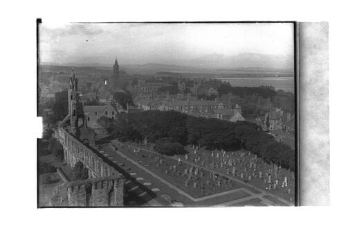 View from St Rule's, St Andrews.