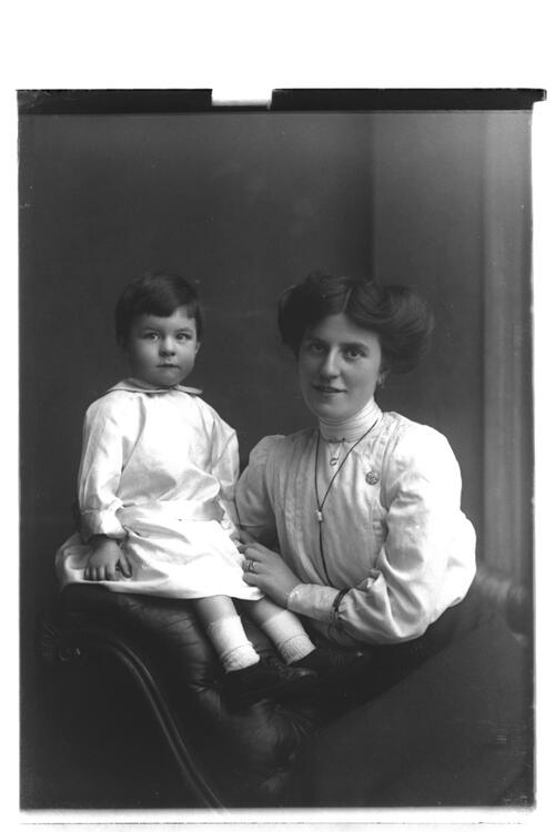 Mrs John Fairweather and son.