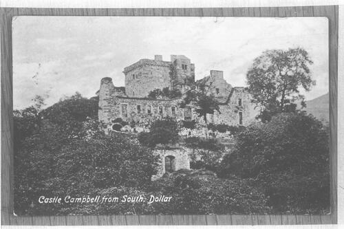 Castle Campbell from South.