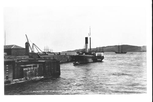 Entrance to Camperdown Dock.