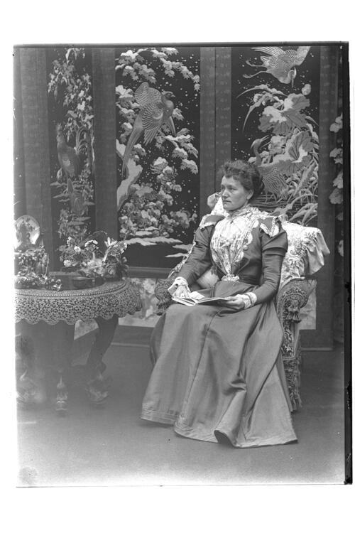 Mrs Lambert [in the conservatory at Montrave].