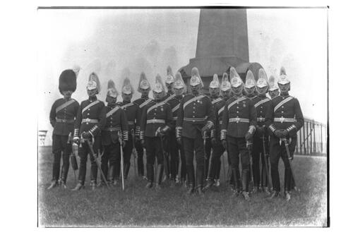 Officers [of the Fife Light Horse] Group, St Andrews.