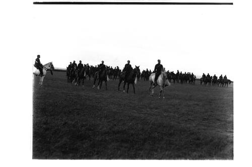 A Squad(ron) [Fife Light Horse]: Single file marching past.