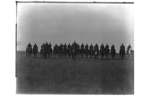 Forfar [?Light Horse] march past by 4 [th ?Squadron].