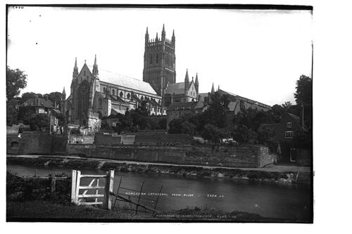 Worcester Cathedral from river.