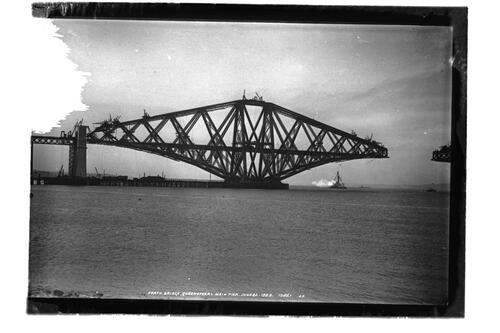 Forth Bridge, Queensferry Main pier, 20 June 1889.