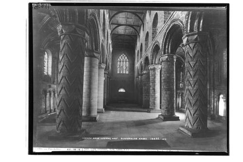 Norman nave, Dunfermline Abbey.