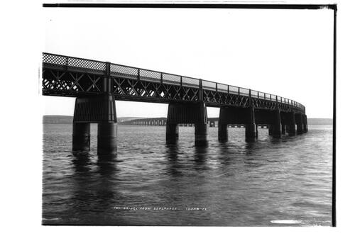 Tay Bridge from esplanade.