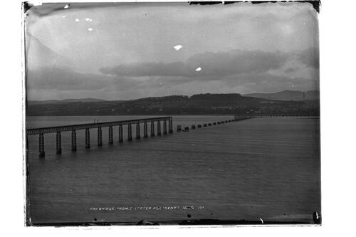 Tay Bridge after the accident.