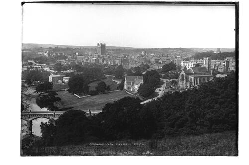 Richmond Castle from terrace.