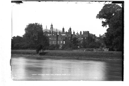 Eton College from the Thames.