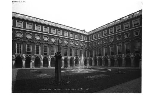 Hampton Court quadrangle.