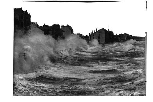 Rough sea, Ramsey promenade.
