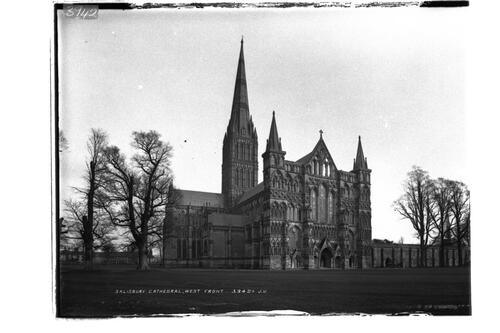 Salisbury Cathedral, West front.