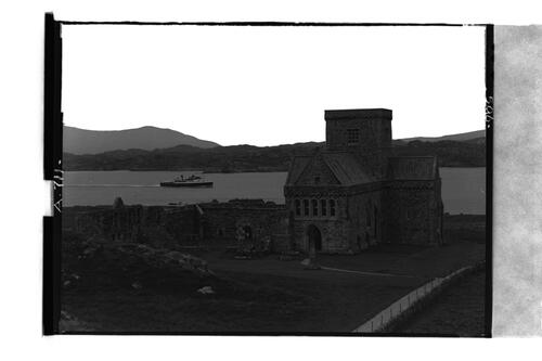 Iona Cathedral & Steamer.