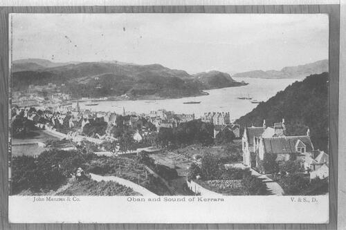 Oban and Sound of Kerrara.