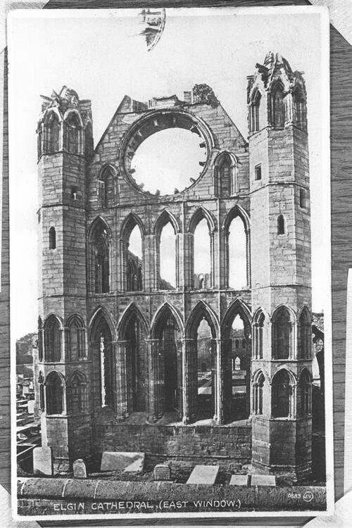 Elgin Cathedral, east window.